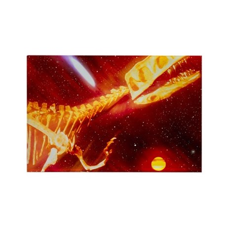 death of the dinosaurs - Rectangle Magnet (100 pk)
