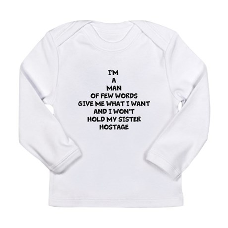 YOUNG MAN OF FEW WORDS Long Sleeve T-Shirt