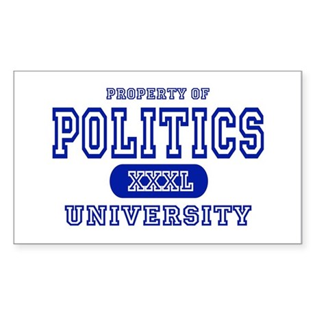 Politics University Rectangle Sticker