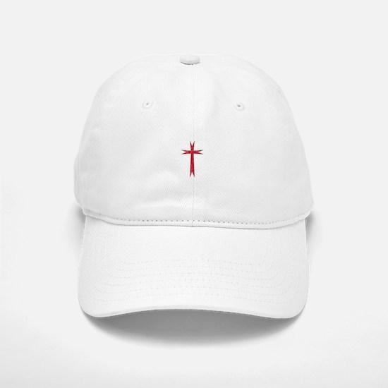 Pretty red christian cross 1 U K Baseball Baseball Baseball Cap