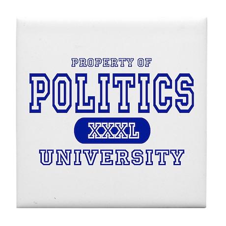 Politics University Tile Coaster