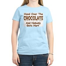 """Hand Over the Chocolate"" Grey T-Shirt"