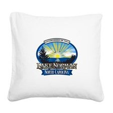 Lake Norman Sun Rays Logo Square Canvas Pillow