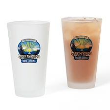 Lake Norman Sun Rays Logo Drinking Glass