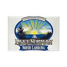 Lake Norman Sun Rays Logo Rectangle Magnet
