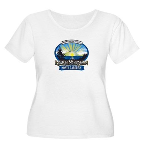 Lake Norman Sun Rays Logo Plus Size T-Shirt