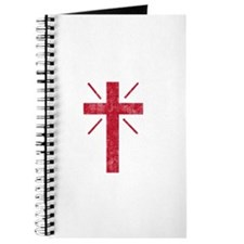 Pretty red christian cross 1 U P Journal
