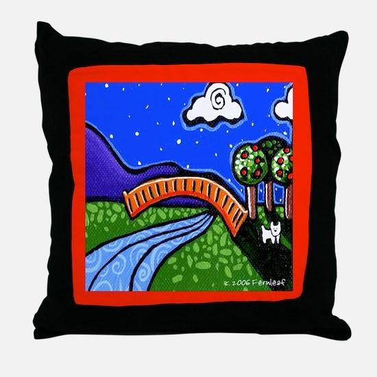 Westie Moonlight Adventure Throw Pillow