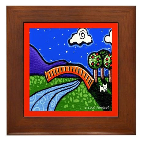Westie Moonlight Adventure Framed Tile