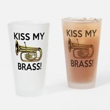 Kiss My Brass Tuba Drinking Glass
