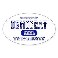 Democrat University Oval Decal