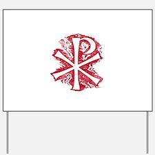 Pretty red christian cross 2 L e Yard Sign