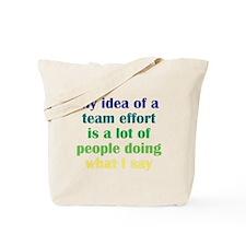 Team Effort Tote Bag