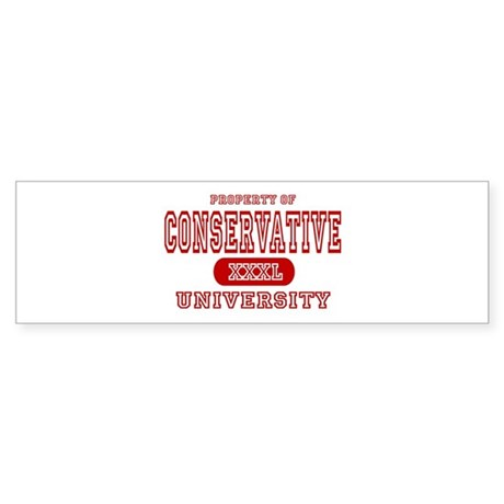 Conservative University Bumper Sticker