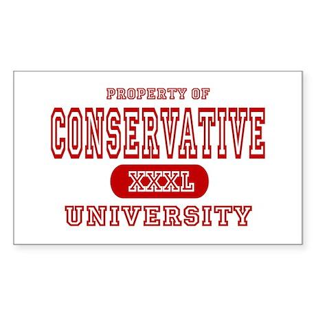 Conservative University Rectangle Sticker