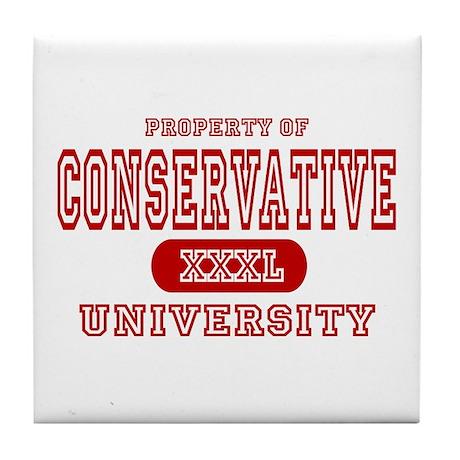 Conservative University Tile Coaster