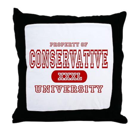Conservative University Throw Pillow