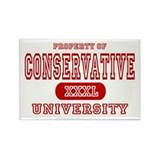Conservative University Rectangle Magnet