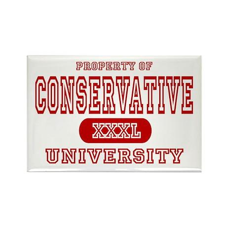 Conservative University Rectangle Magnet