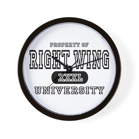 Right Wing University Wall Clock
