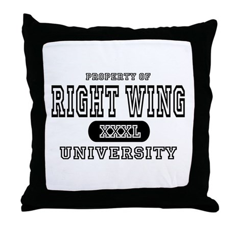 Right Wing University Throw Pillow
