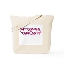 """Patterdale Terrier """"Pink"""" Tote Bag"""