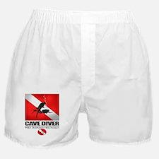Cave Diver 2 (back) blk Boxer Shorts