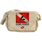 Cave Diver 2 (back) blk Messenger Bag