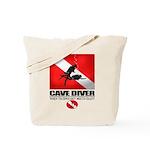 Cave Diver 2 (back) blk Tote Bag