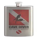 Cave Diver 2 (back) blk Flask