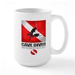 Cave Diver 2 (back) blk Mug