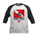Cave Diver 2 (back) blk Baseball Jersey