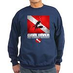 Cave Diver 2 (back) blk Sweatshirt