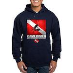 Cave Diver 2 (back) blk Hoodie