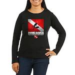 Cave Diver 2 (back) blk Long Sleeve T-Shirt