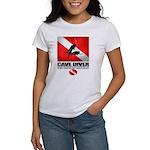 Cave Diver 2 (back) blk T-Shirt