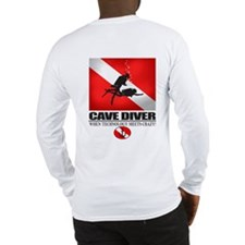 Cave Diver 2 (back) blk Long Sleeve T-Shirt