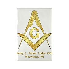 Palmer Lodge Rectangle Magnet