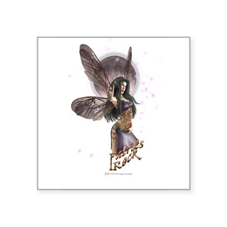 Fairies Rock! Oval Sticker