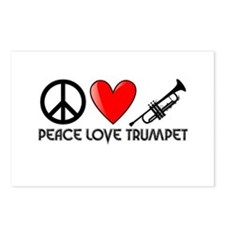 Peace, Love, Trumpet Postcards (Package of 8)
