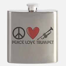 Peace, Love, Trumpet Flask