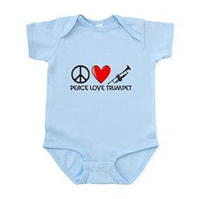 Peace, Love, Trumpet Body Suit