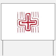 Pretty red christian cross 2 U E Yard Sign
