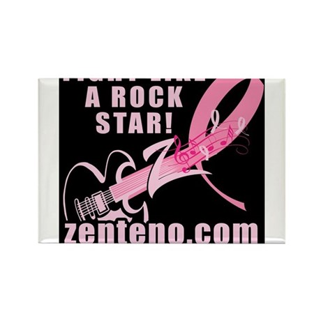 Fight Like A Rock Star! Rectangle Magnet