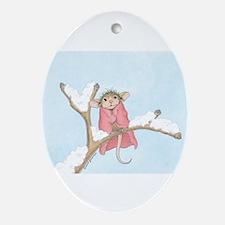 Mice Warm Blanket Ornament (Oval)