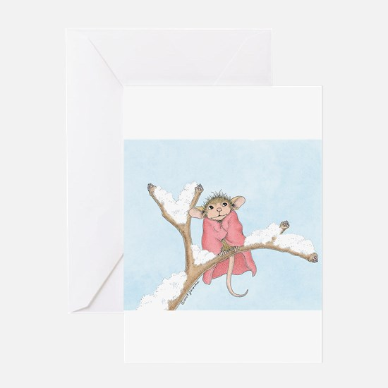 Mice Warm Blanket Greeting Card
