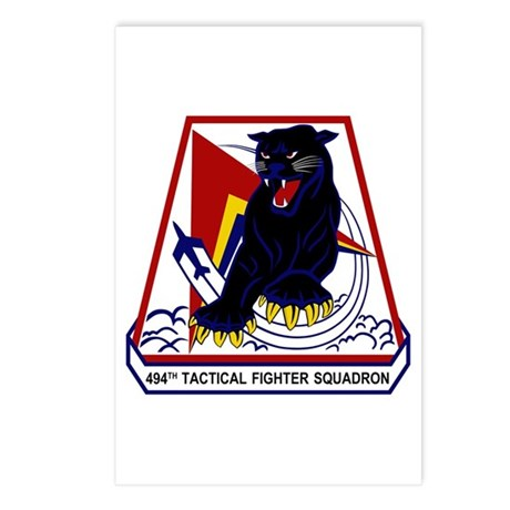 494th TFS Postcards (Package of 8)