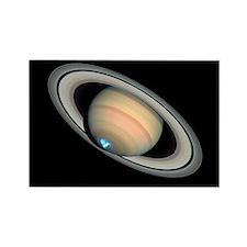 Aurora on Saturn - Rectangle Magnet (100 pk)