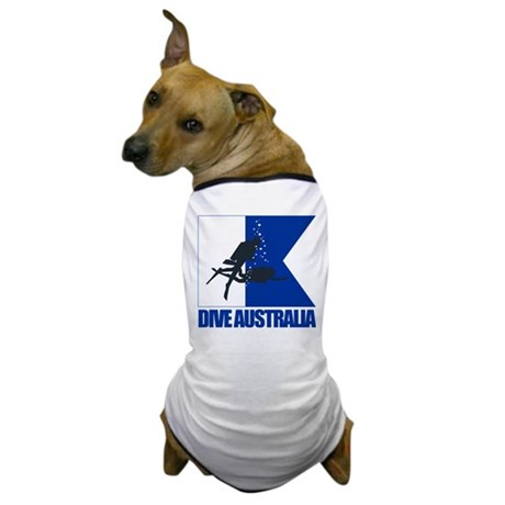 Dive Australia (blue) Dog T-Shirt