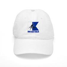 Dive Australia (blue) Baseball Baseball Cap